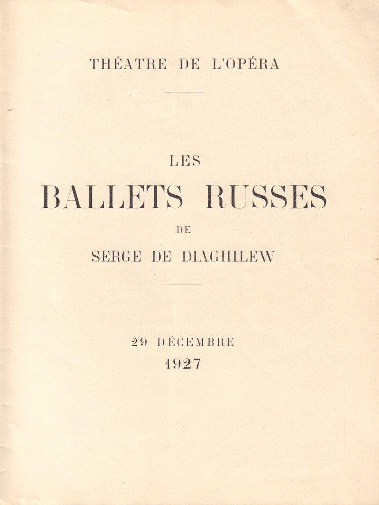 Sergei Diaghilev. Les Ballets Russe