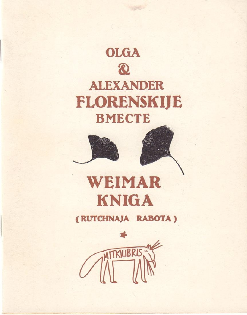 [Florenskaya, O.A., Florensky, A.O.] Weimar kniga: