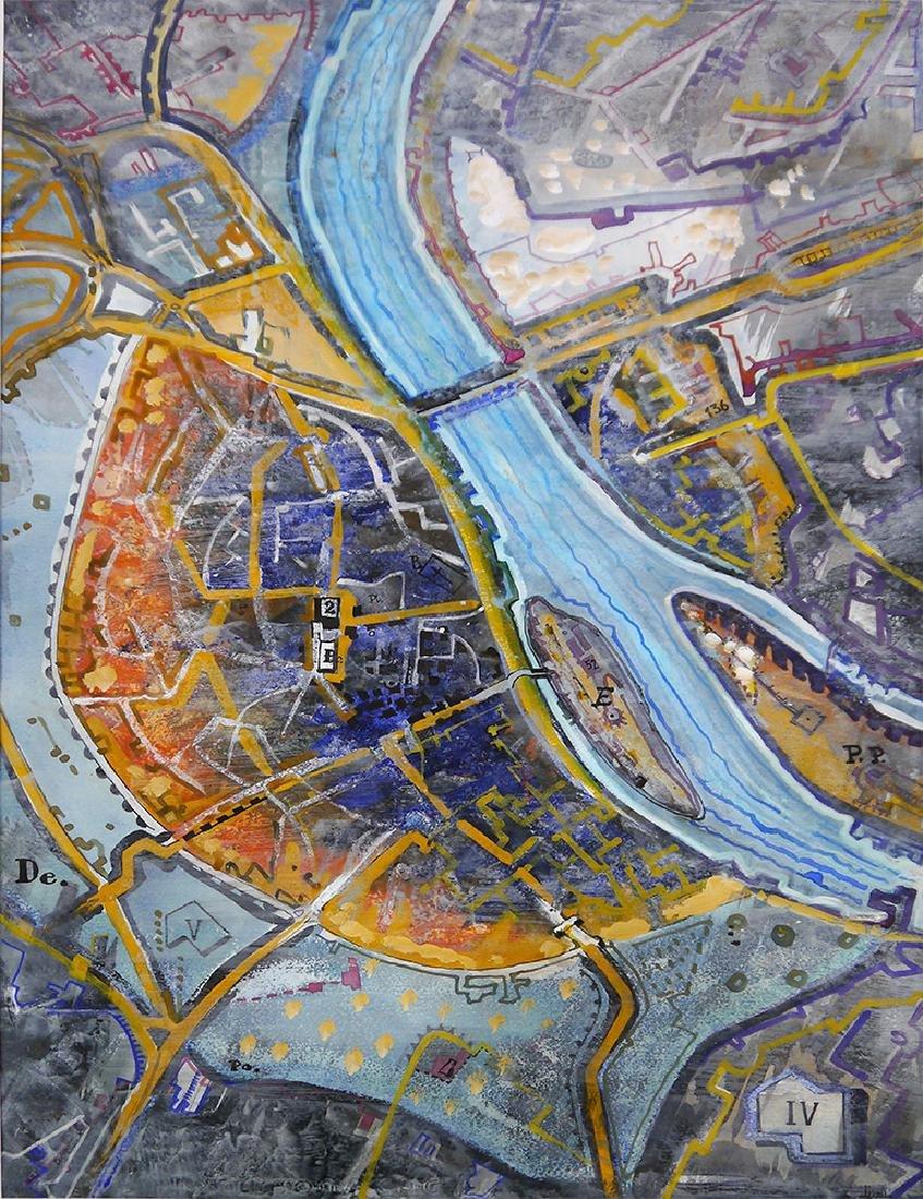 "Brusilovsky, Kirill. Painting ""Karte III"". 1999"