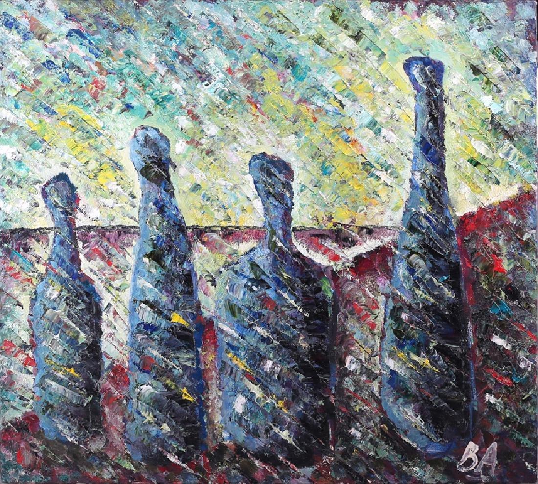 Aleinikov, V.D. [autograph]. Blue bottles.