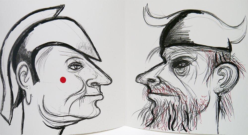 [Kantor, M.K., drawings, autograph]. Kleist, H.