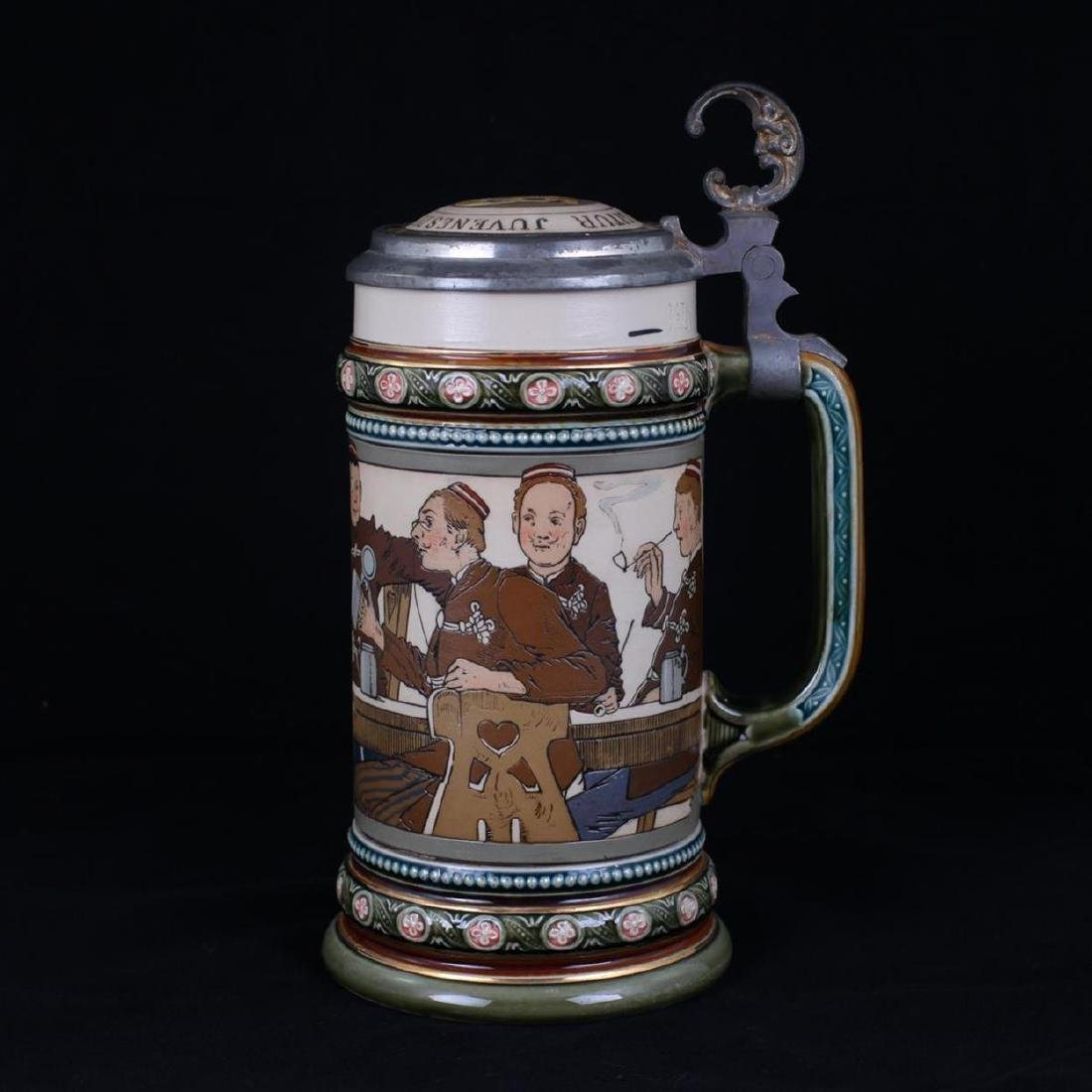 """Beer stein with a hymn """"Gaudeamus igitur"""". [1900s]."""