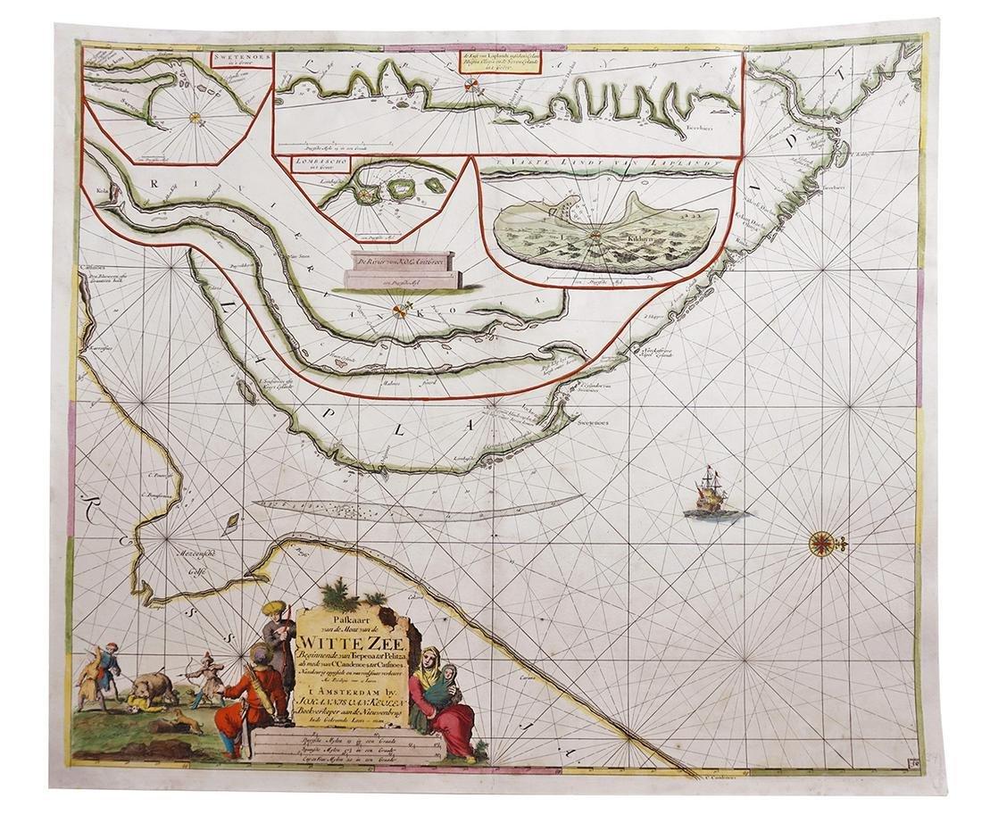 [Map of Barents Sea. Russian]. Paskaart van de Mont van