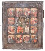 Russian icon Â«St. Nicholas Wonderworker and his
