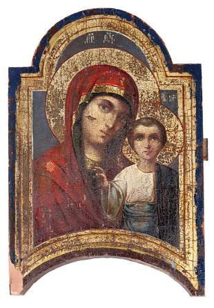 "Russian icon ""Mother of God Kazanskaya"". - 19th"