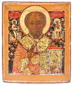 "Russian icon ""St. Nicholas Wonderworker"". - 18th"