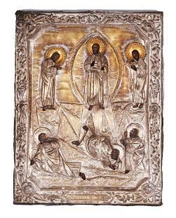 "Russian icon ""Transfiguration of Jesus"""