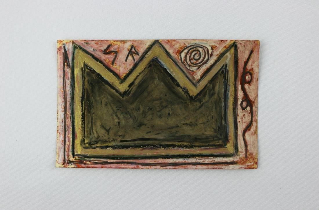 Jean-Michel Basquiat Crown Postcard