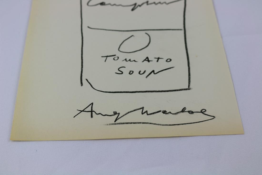 Andy Warhol Campbells Drawing