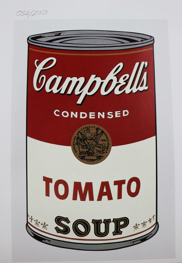 Andy Warhol Signed and Numbered Campbells Soup