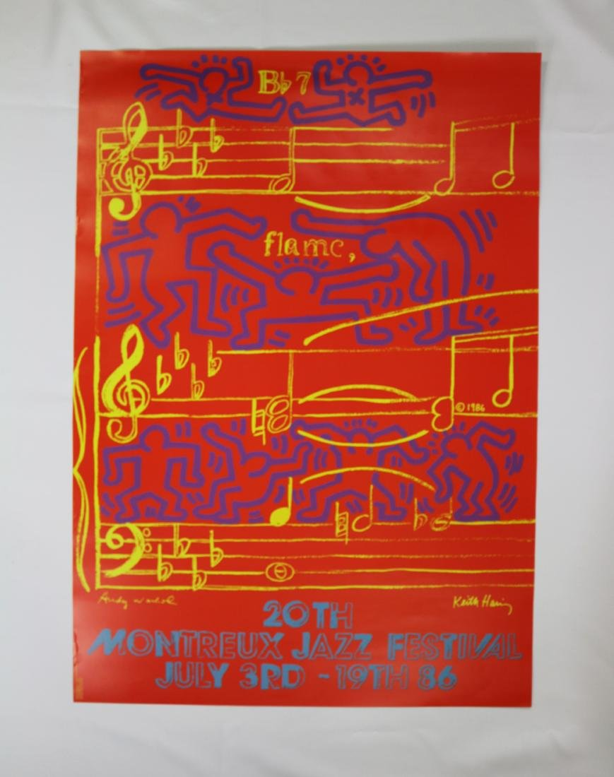 1986 Montreux Jazz Festival Poster Andy Warhol Keith