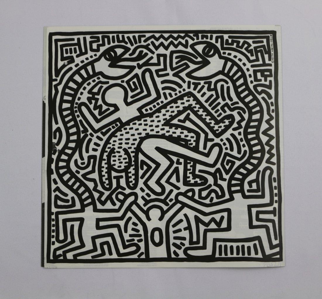 Keith Haring Vinyl Record Print