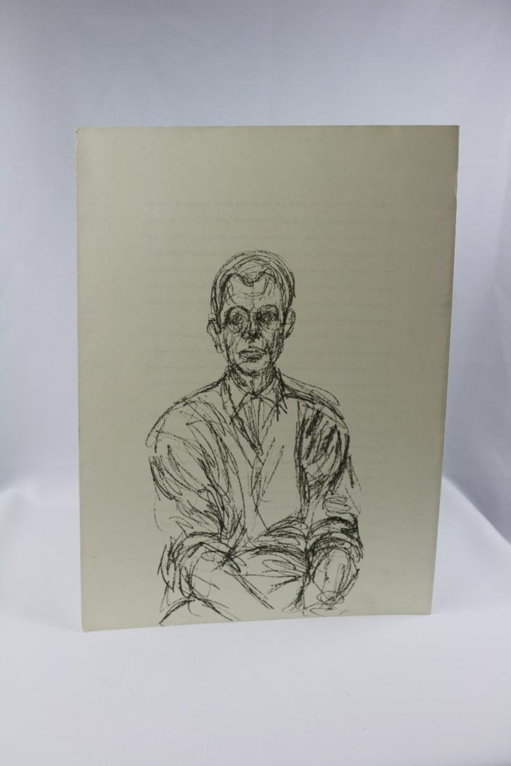 Albert Giacometti Double Sided Lithograph
