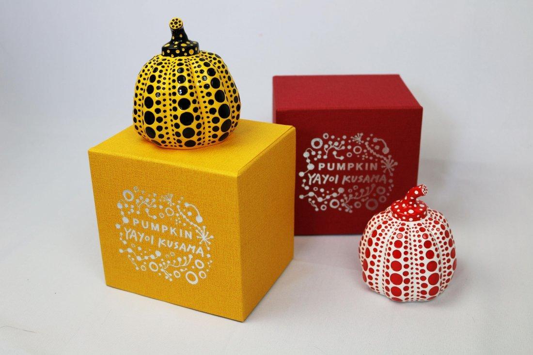 Yayoi Kusama Yellow and Red Pumpkin