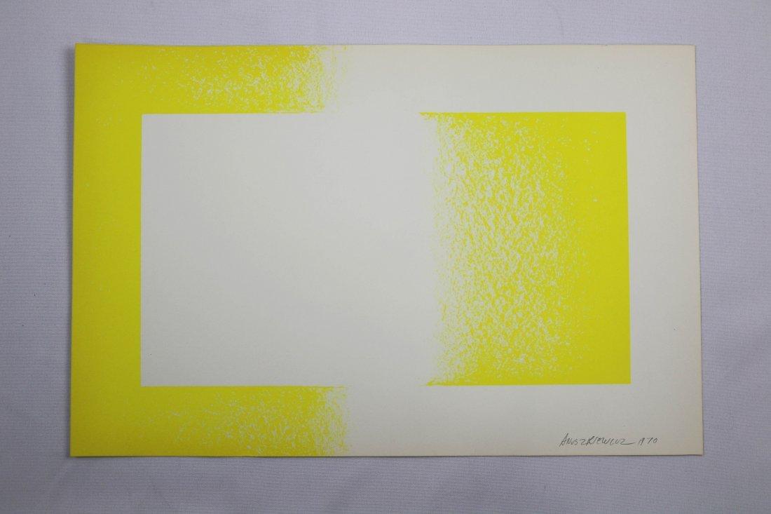 Richard Anuszkiewicz 1970 Yellow Reversed Lithograph