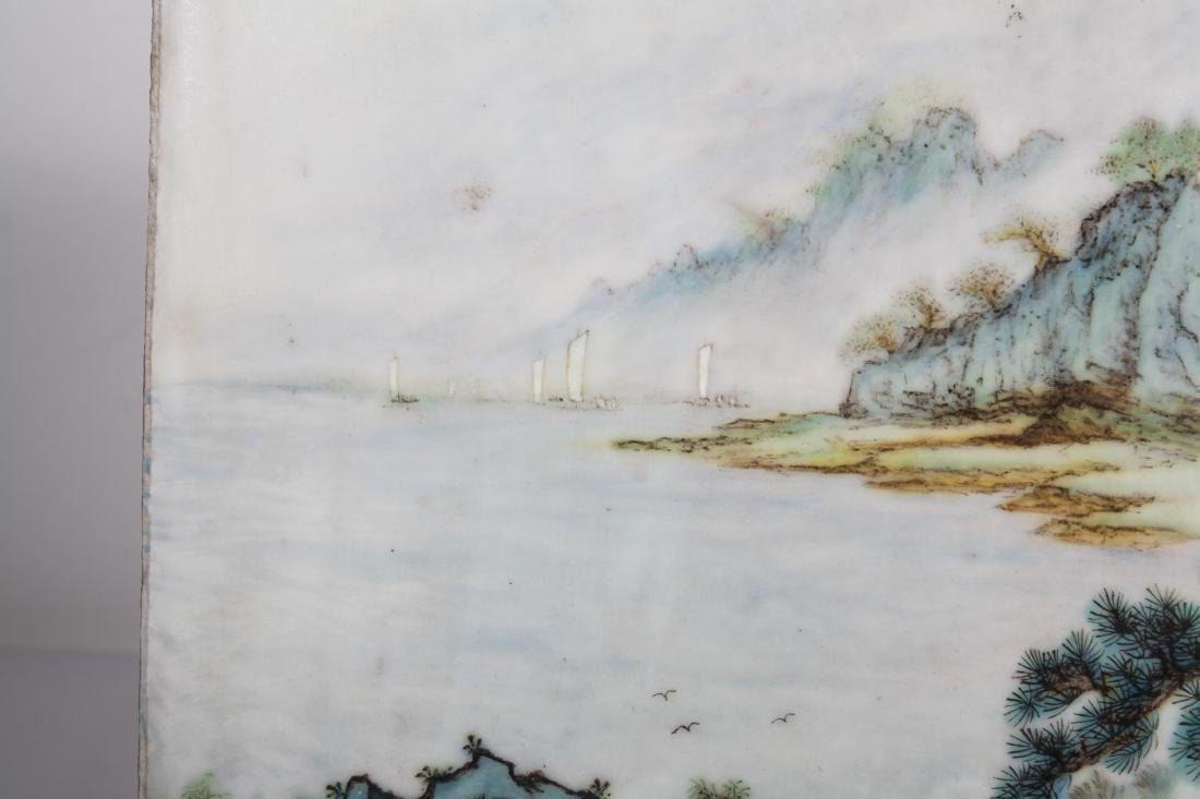 CHINESE PORCELAIN PLAQUE - 6