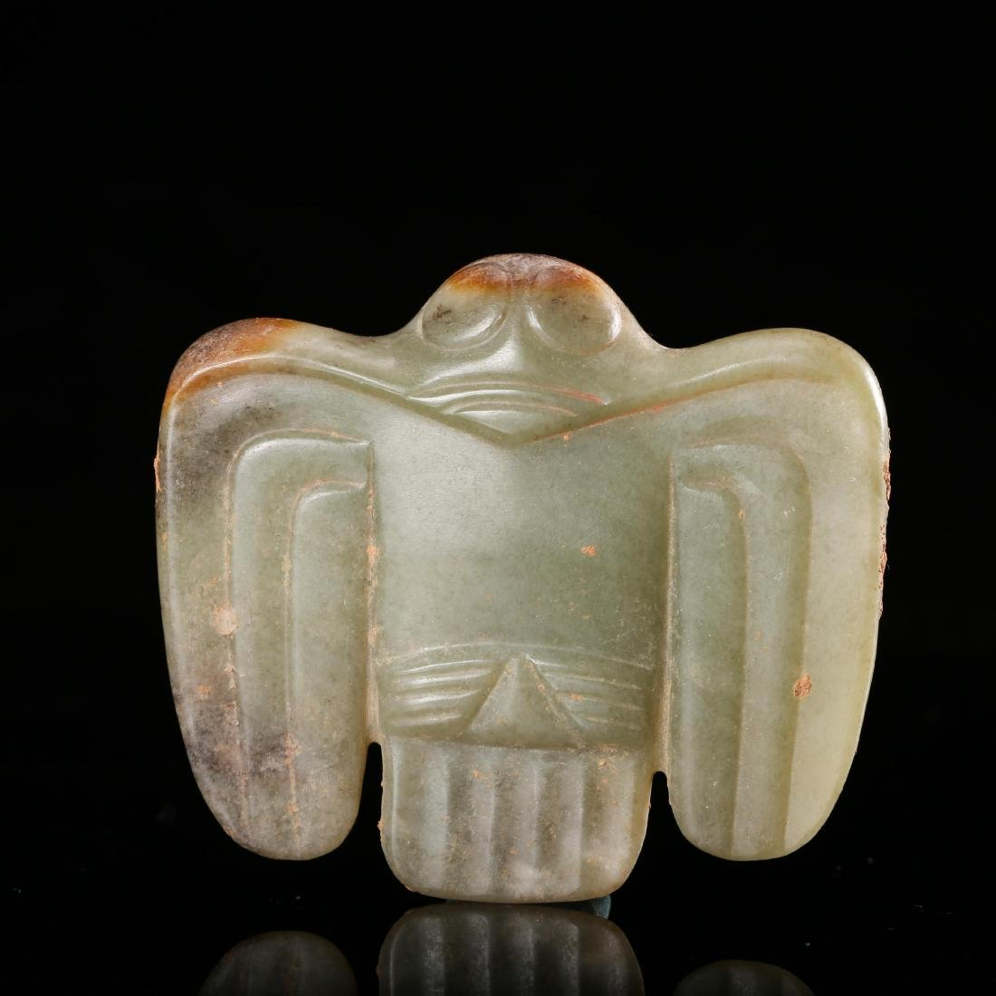 CHINESE NEOLITHIC JADE FALCON PENDANT