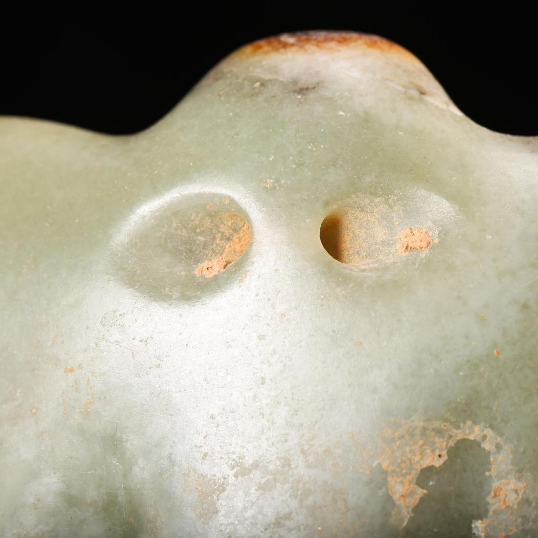 CHINESE NEOLITHIC JADE FALCON PENDANT - 7