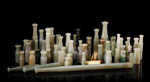 CHINESE JADE SMOKE PIPE MOUTH PIECES