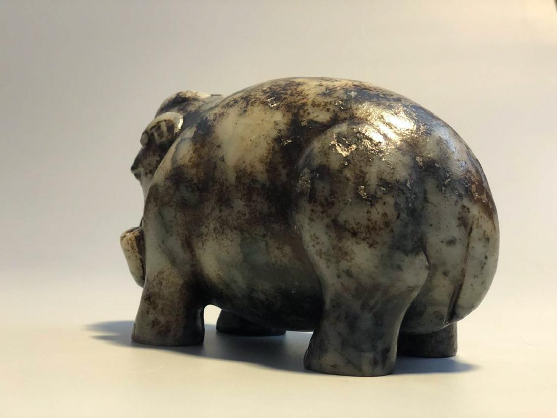 CHINESE JADE STONE FIGURE OF ELEPHANT - 7