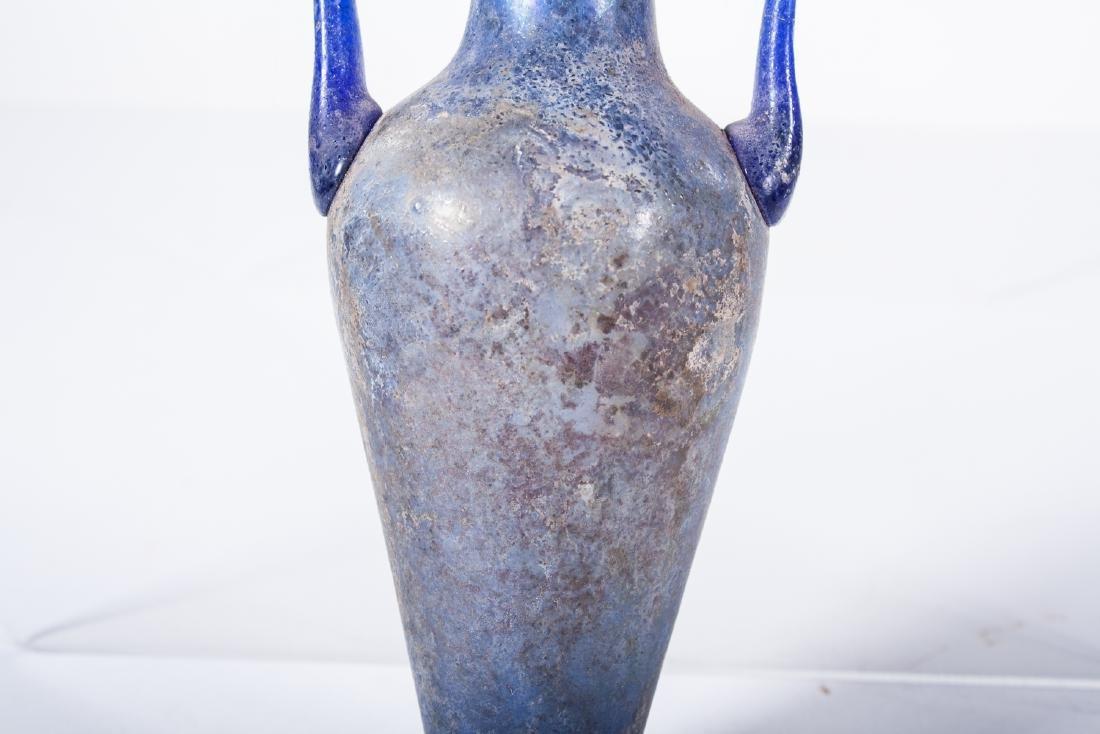 ANCIENT ROMAN GLASS AMPHORA - 3