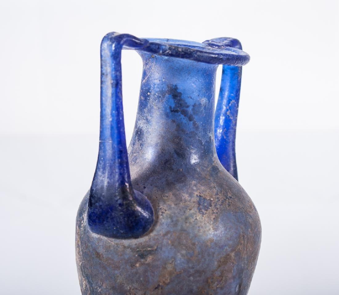 ANCIENT ROMAN GLASS AMPHORA - 5