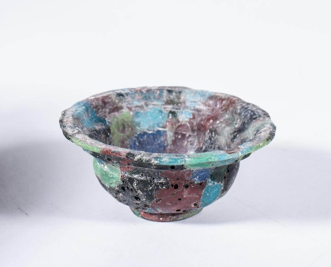 ANCIENT ROMAN GLASS MOSAIC BOWL
