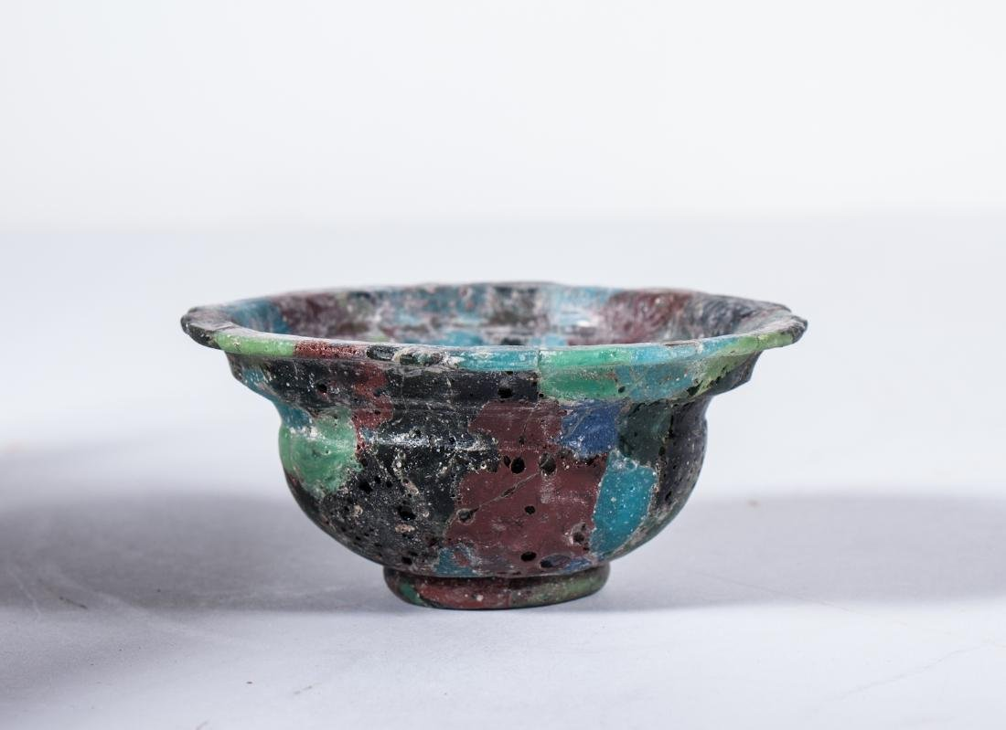 ANCIENT ROMAN GLASS MOSAIC BOWL - 2