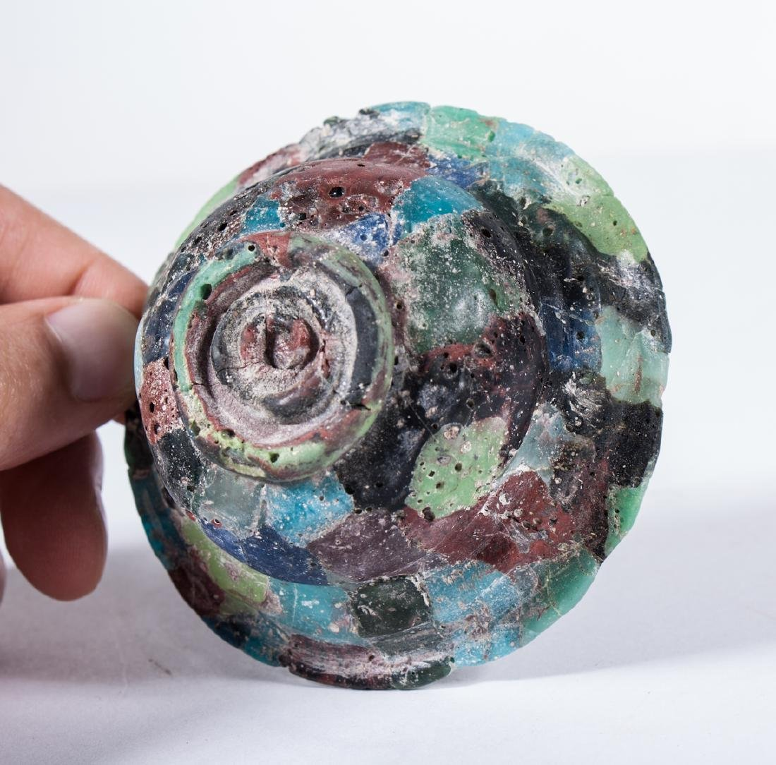 ANCIENT ROMAN GLASS MOSAIC BOWL - 5