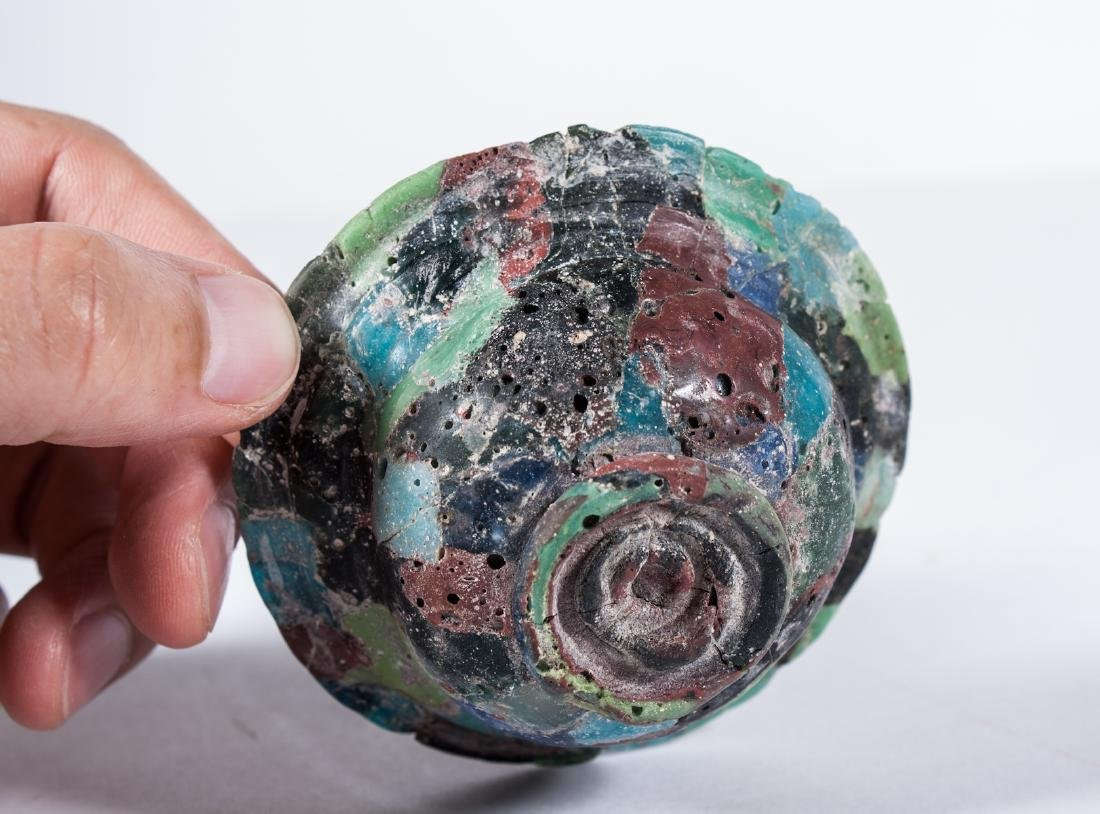ANCIENT ROMAN GLASS MOSAIC BOWL - 6