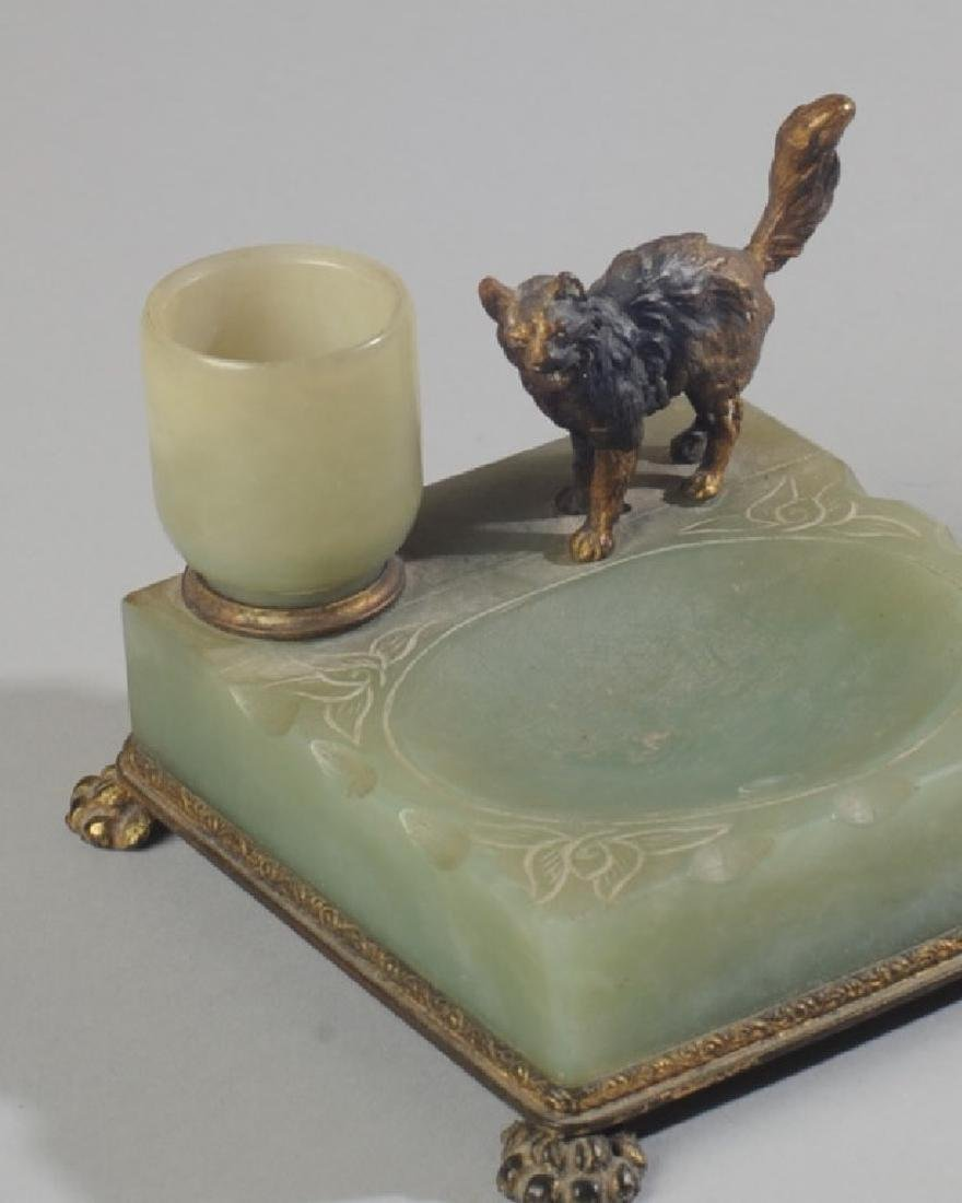 RARE NICHOLAS HAYDON JADE ASHTRAY - 3