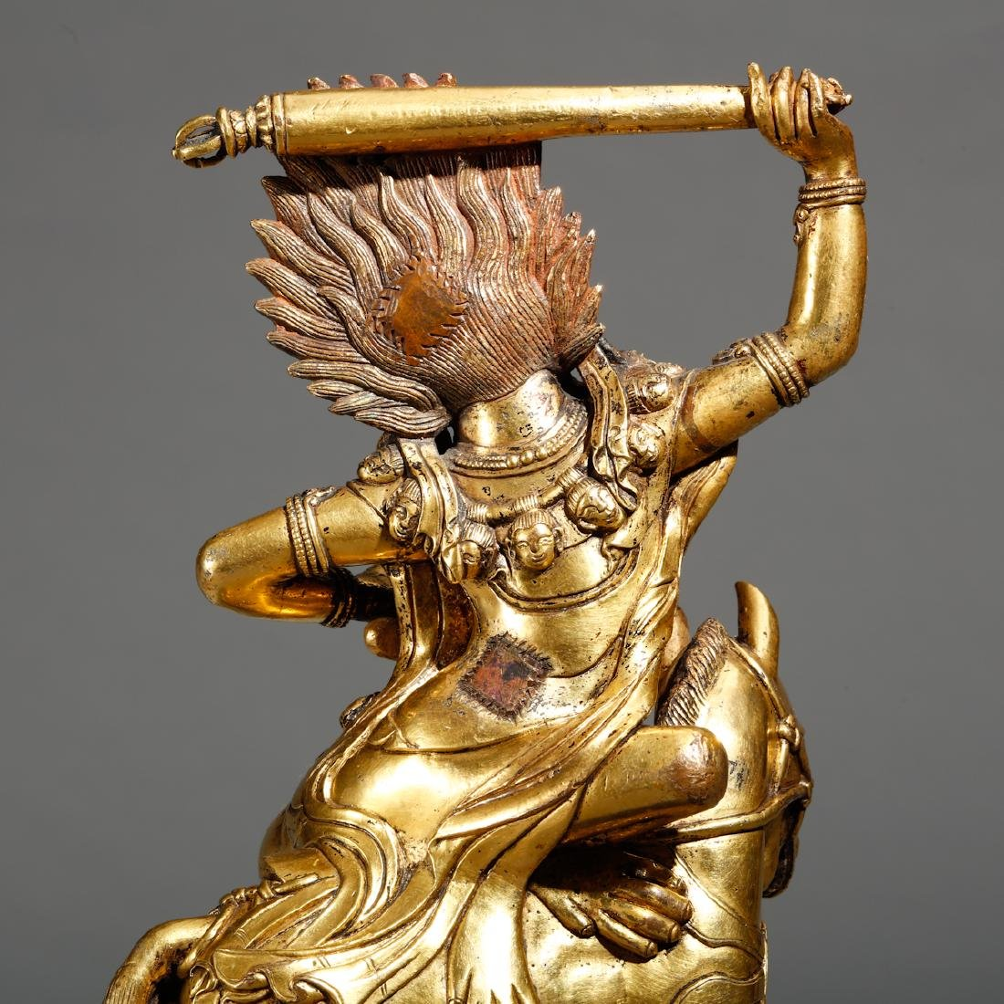 CHINESE  SINO TIBETAN GILT BRASS FIGURE OF - 4