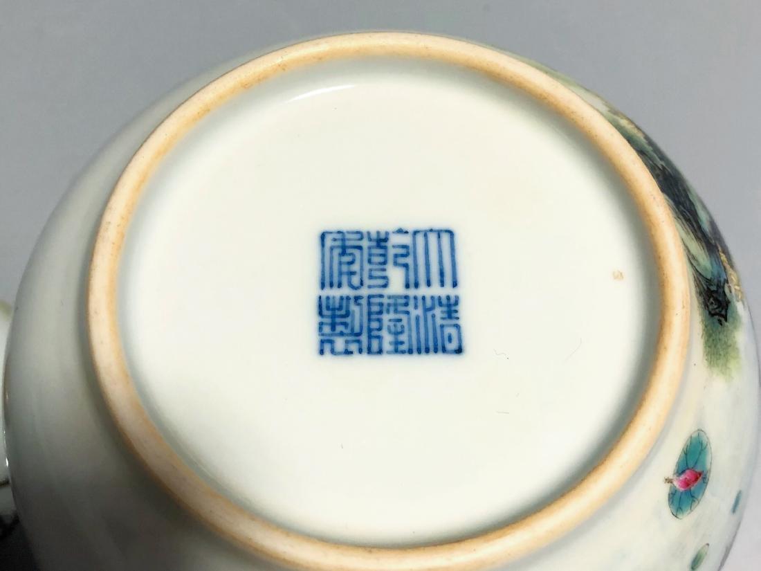 CHINESE FAMILLE ROSE PORCELAIN TEA POT - 7