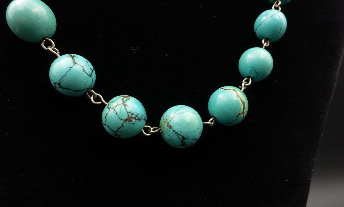 CHINESE TURQUOISE BEADS NECKLACE - 2