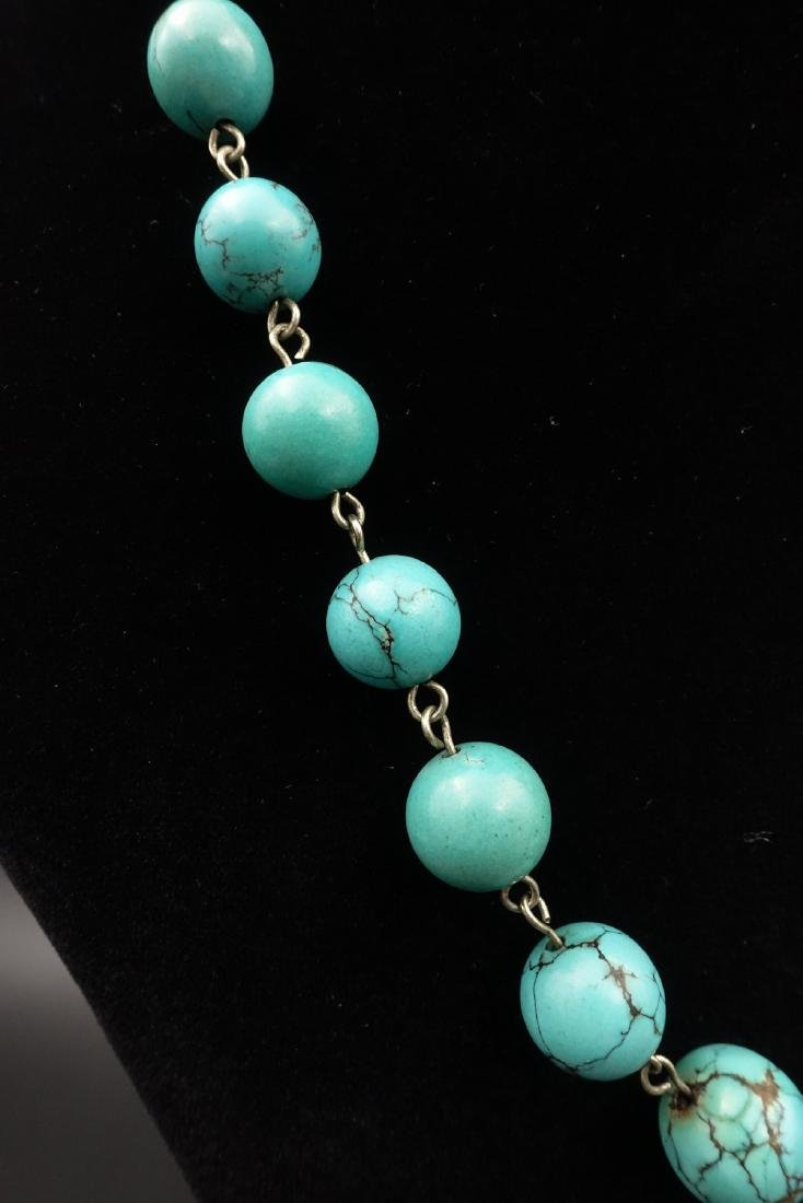 CHINESE TURQUOISE BEADS NECKLACE - 3