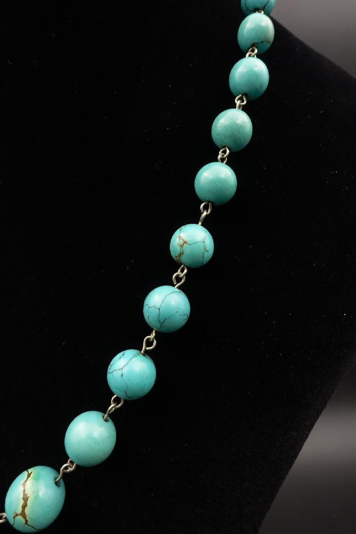 CHINESE TURQUOISE BEADS NECKLACE - 4