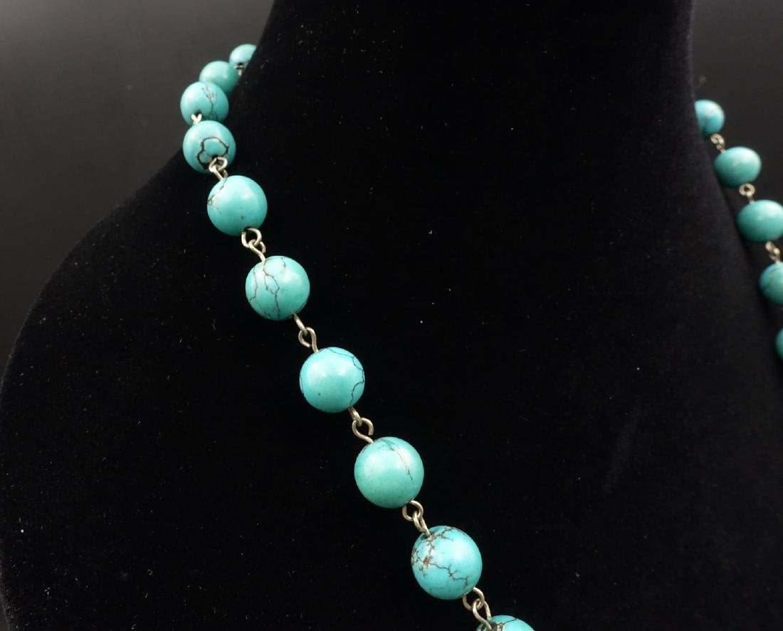 CHINESE TURQUOISE BEADS NECKLACE - 5