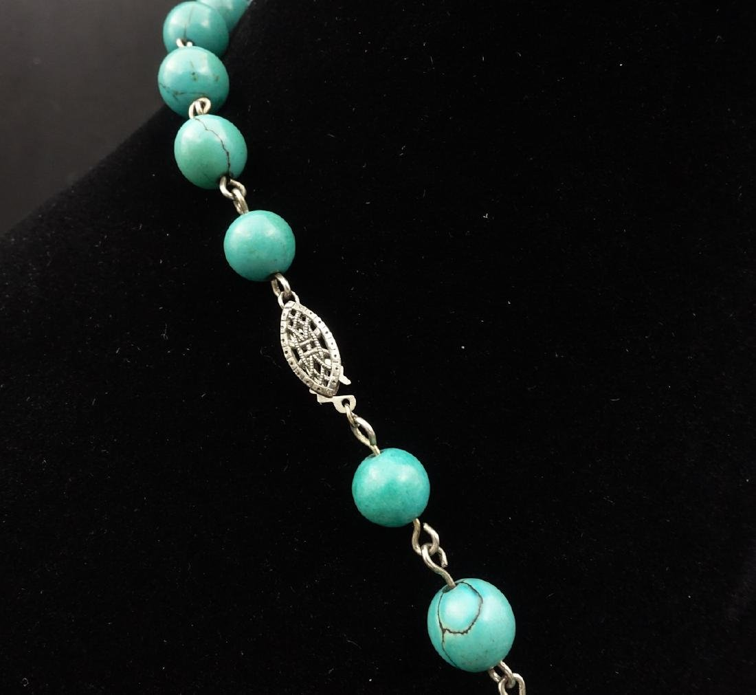 CHINESE TURQUOISE BEADS NECKLACE - 6