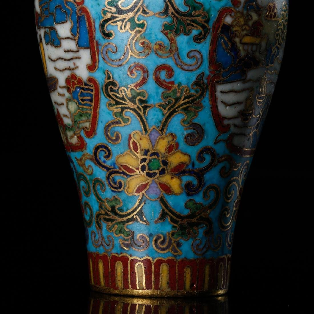 CHINESE CLOISONNE SNUFF BOTTLE - 10