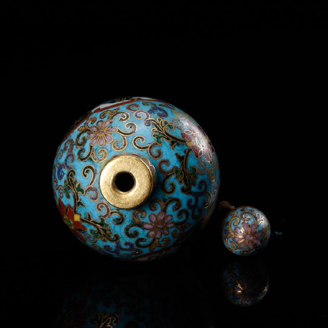 CHINESE CLOISONNE SNUFF BOTTLE - 6
