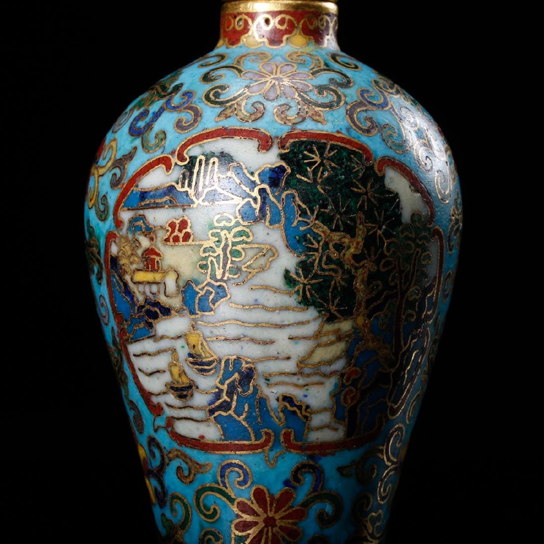 CHINESE CLOISONNE SNUFF BOTTLE - 8