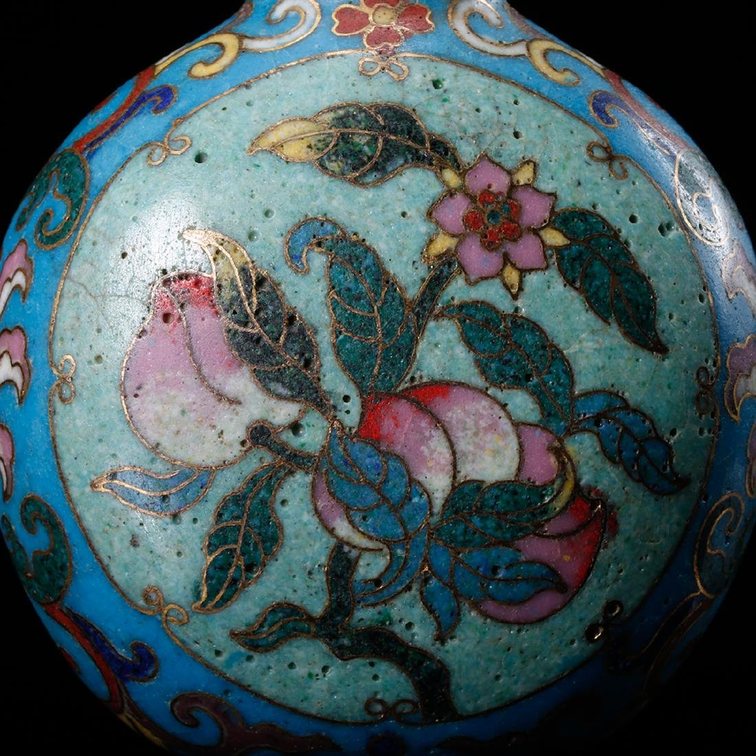 CHINESE CLOISONNE SNUFF BOTTLE - 7