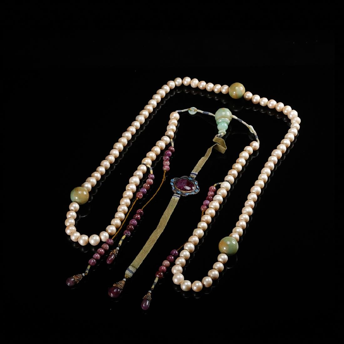 CHINESE PEARL COURT BEADS NECKLACE, QING - 2