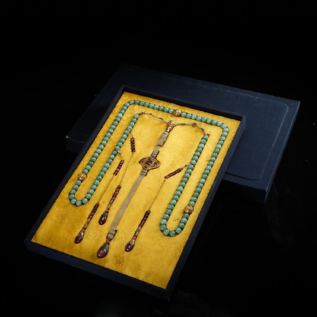 CHINESE JADEITE COURT BEADS NECKLACE, QING