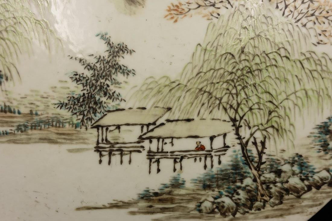 CHINESE QIANJIANG PAINTED PORCELAIN PLAQUE - 3