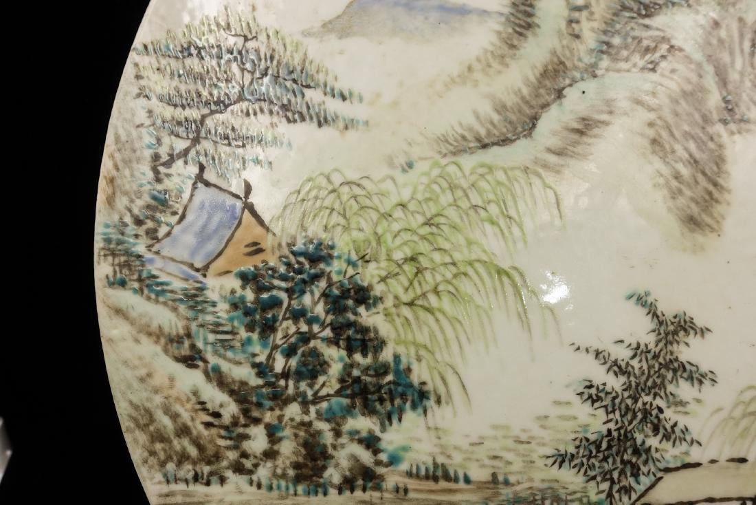 CHINESE QIANJIANG PAINTED PORCELAIN PLAQUE - 5