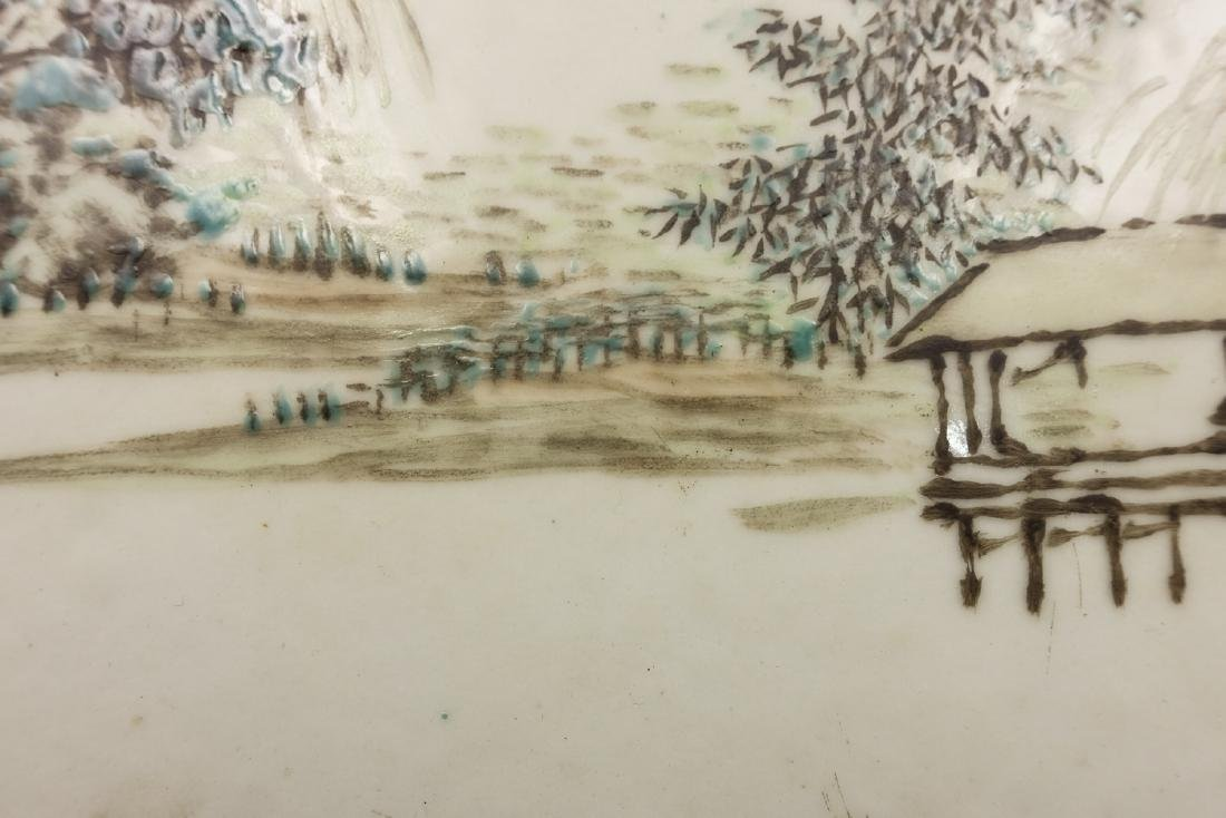 CHINESE QIANJIANG PAINTED PORCELAIN PLAQUE - 6