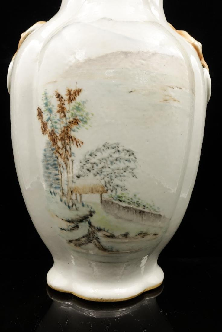 CHINESE QIANJIANG PAINTED PORCELAIN VASE - 7