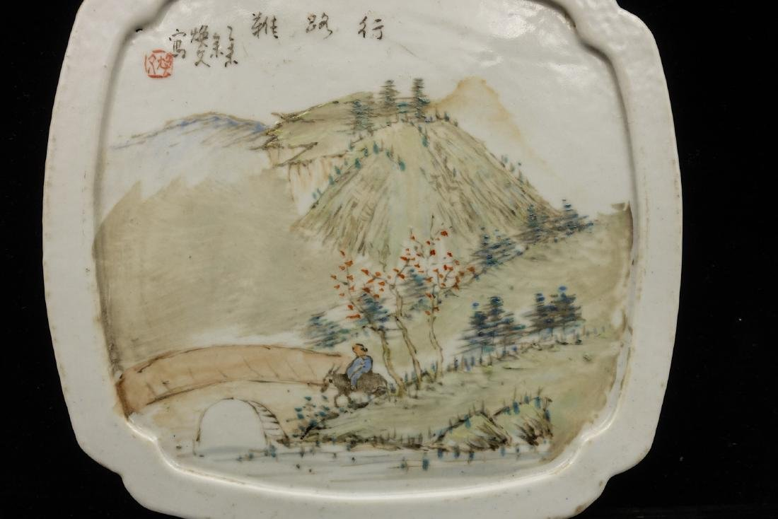 CHINESE QIANJIANG PAINTED PORCELAIN COVER BOX - 10