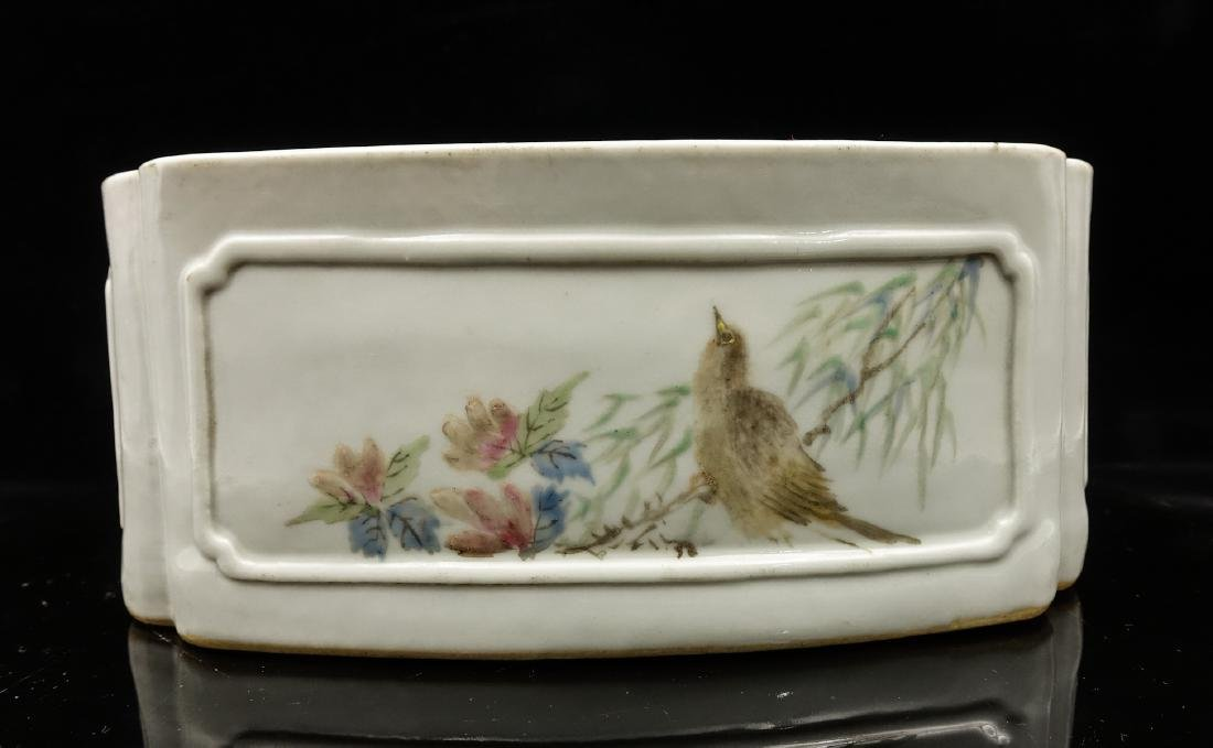 CHINESE QIANJIANG PAINTED PORCELAIN COVER BOX - 5
